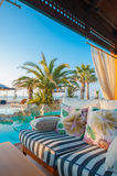 basenu hotelowy luksusowy dopłynięcie Fotografia Royalty Free
