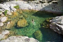 basenu naturalny dopłynięcie Zdjęcia Royalty Free