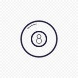 Basenu osiem piłki kreskowa ikona ilustracja wektor