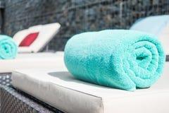 Basenu ręcznik Zdjęcia Stock