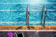 basenu schodka dopłynięcie Obrazy Royalty Free