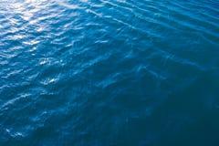 Basenu woda textured błękitny morze Obrazy Royalty Free