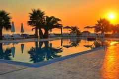 basenu wschód słońca dopłynięcie Fotografia Stock