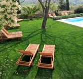 baseny ogrodowe pływa sunbeds następny Obrazy Royalty Free