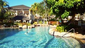 baseny parasoli pływający wody zdjęcia royalty free