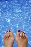 baseny stopy Obrazy Stock