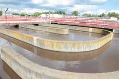 Baseny z wastewater Zdjęcia Royalty Free