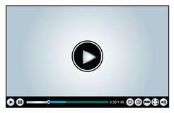 Baserad video spelare för rengöringsduk eller för internet Royaltyfria Foton