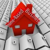 Baserat affärshus för hem som ut står grannskapsjälven Employe Arkivbild