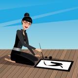 baserat korn för closen för calligraphyteckenkinesen extremt hands upp bilden medelblandad målningsfotografitextur Royaltyfri Foto
