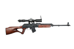 Baserat prickskyttgevär för Kalashnikov Arkivfoto