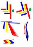 Bases 1 de la insignia o del icono Imagen de archivo libre de regalías
