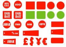 bases de 1 commerce électronique Images libres de droits