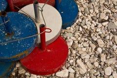 Bases de parasol photographie stock