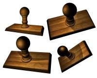 Bases en bois d'estampille Image stock