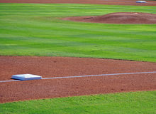 Bases and pitchers mound. Background Royalty Free Stock Photos