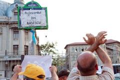 反Basescu! 免版税库存照片
