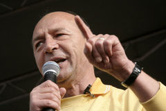 Basescu president of Romania royalty free stock photography