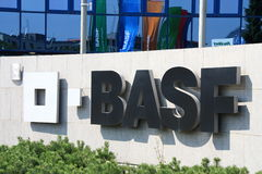 Basf. Shot of Basf logo Royalty Free Stock Photos