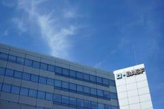 BASF-Bürogebäude-Straßen-Ansicht Frankreich Lizenzfreies Stockfoto