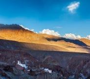 Basgo修道院 Ladakh,印度 免版税图库摄影