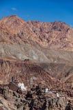 Basgo修道院 Ladakh,印度 免版税库存图片