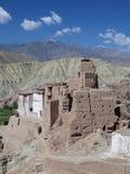 堡垒Basgo,拉达克 免版税库存照片