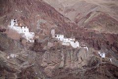 Basgo Boeddhistisch klooster in Ladakh, India, Royalty-vrije Stock Foto's