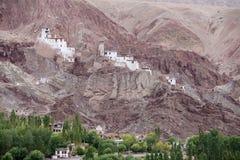 Basgo buddistisk kloster i Ladakh, Indien Arkivfoton