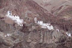 Basgo kloster i Ladakh, Indien, Royaltyfri Bild