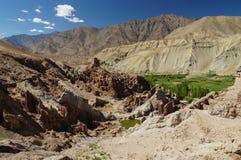 Старый монастырь Basgo в Ladakh, Индии Стоковые Фотографии RF