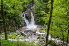 Bash Bish Falls as seen from above royalty free stock photography
