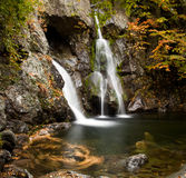 Bash Bish falls in Berkshires. Bish Bash Falls in Massachusetts in the Berkshire County royalty free stock photography