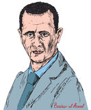 Bashar Hafez al-Assad, President of Syria, commander-in-chief of the Syrian Armed Forces, Syrian Ba`ath Party. Drawn by hand 2d illustration in pop art style Stock Photo