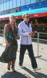 Basharov e Sazonova no festival de película Fotografia de Stock