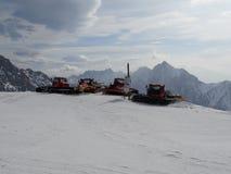 Bashers di pista a Zugspitze Immagini Stock Libere da Diritti