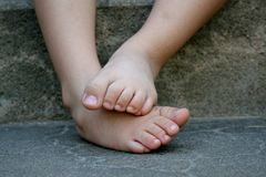 Bashful feet Stock Images