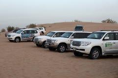 bashing дюна Дубай автомобилей offroad Стоковое Изображение RF