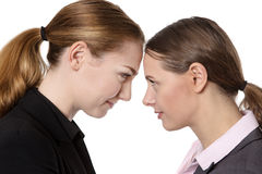 Bashing heads together Stock Photos