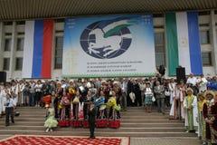 Bashkir national clothes and ornament. Republic of Bashkortostan Royalty Free Stock Photos