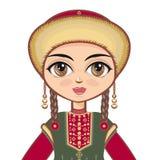 Bashkir suit.  Historical clothes .Portrait, avatar Stock Images