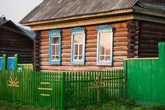Bashkirian-Blockhaus Lizenzfreie Stockfotos