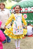 Bashkirochka. A holiday Sabantuy in the Republic of Bashkortostan. Russia. Bashkirochka in national clothes. A holiday Sabantuy in the Republic of Bashkortostan Stock Photo
