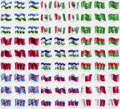 Bashkortostan, Bosnia and Herzegovina Federation, Saudi Arabia, Albania, Lesothe, Burkia Faso, Congo Democratic Republic, Slovakia Stock Image