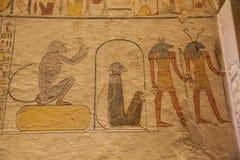Bashulp van Seth en Anubis stock foto