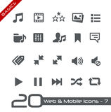 Basi del cellulare & di web Icons-7 // Fotografie Stock