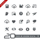 Basi del cellulare & di web Icons-8 // Immagini Stock