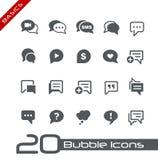 Basi di //delle icone della bolla Immagini Stock