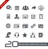 Basi di //delle icone della rete di affari Immagine Stock