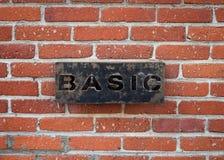 BASIC被设置对砖墙 免版税库存照片